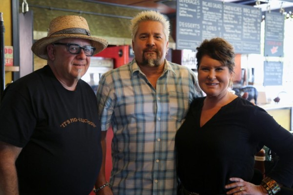 Rob & Lizzi Larman w/ Guy Fieri
